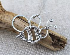 Bumble Bee Necklace. Wire Bee. Aluminum. Wire Jewelry