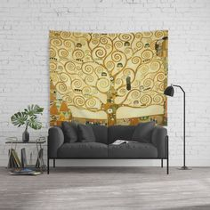 Gustav Klimt The Tree Of Life Tapestries by Art Gallery - Large: x Society 6 Tapestry, Gustav Klimt, Tree Of Life, Wall Tapestry, Vivid Colors, Picnic Blanket, Indoor, Home Decor, Interior