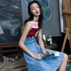 INSPIRATION BY COLOR: Tian Yi by Jumbo Tsui for Elle China January 2015 http://www.fashion.net/today/