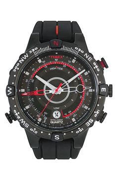 Timex® 'Intelligent Quartz' Tide & Compass Silicone Strap Watch available at Nordstrom