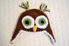 Free Crochet Owl Beanie Pattern