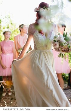 in her custom-made Elbeth Gillis gown. Melissa looked absolutely beautiful in soft pink. Wedding Goals, Wedding Day, Strapless Dress Formal, Formal Dresses, Bridesmaid Dresses, Wedding Dresses, Big Day, Wonderland, Gowns