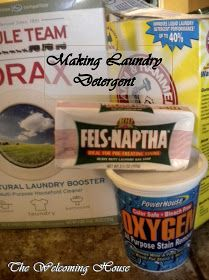 The Welcoming House: Fabulously Frugal Friday---my Homemade laundry Detergent process in pictures...