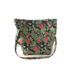Floral Purse Small Tote Bag Green Leaves by ColleensDesignsBags