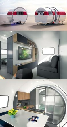 BeauEr expandable caravan provides living space when required. It can be customized with amenities like modern homes. Tiny House Living, Rv Living, Living Spaces, Glamping, Small Caravans, Vintage Caravans, Small Camper Trailers, Campers, Caravan Living