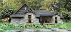 Rugged Rustic 3 Bedroom Home Plan - 16863WG | Cottage, Country, Craftsman, Mountain, Ranch, Vacation, 1st Floor Master Suite, Bonus Room, Butler Walk-in Pantry, CAD Available, Den-Office-Library-Study, Jack & Jill Bath, PDF, Split Bedrooms, Corner Lot | Architectural Designs