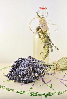 a bucket of lavender
