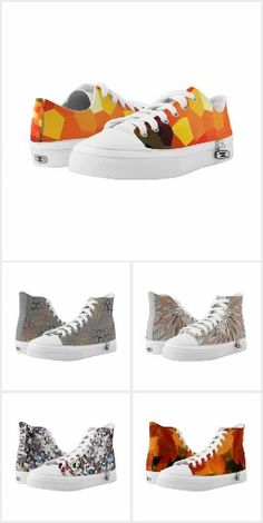 Custom High Top and Low Top ZIPZ® shoes featuring unique designs. So comfortable, I simply love these original leisure shoes! Printed Shoes, High Tops, Comfy, Sneakers, How To Wear, Outfits, Collection, Fashion, Tennis