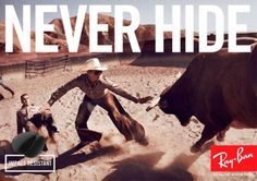 "Ray ban ""NEVER HIDE"""