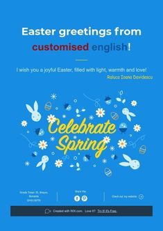 Easter greetings from customised english!
