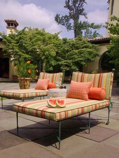 New Indoor Outdoor Fabrics From Kathy Cowell Corners Calico Home Dining
