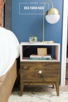 These nightstands turned out amazing! I cannot believe how good they look. They seriously don't even look like they are from IKEA. I have got all the details on how you can recreate these at home! yay for ikea hacks...who's with me!?