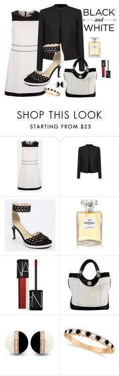"""Black and white été 2017"" by delphine-delphe on Polyvore featuring mode, Brenda Zaro, Chanel, NARS Cosmetics, Jill Stuart et Allurez"