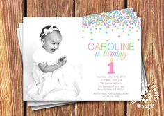 Photo Birthday Invitations by FromHeadtoToeDesigns