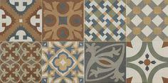 Плитка Gracia Roca Ceramica испанская коллекция матового керамогранита в стиле пэчворк