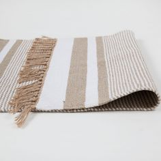 Image 5 of the product Golden striped cotton rug