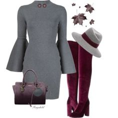 Bell Sleeves and Over-The-Knee Boots
