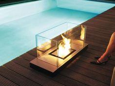 Radius Design 544 A Ethanolkamin Uni Flame 1,7L Edelstahl Schwarz