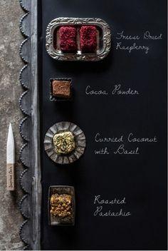... chocolate truffle squares ...