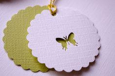 Butterfly Gift Tags by ILovePaperCrafting on Etsy