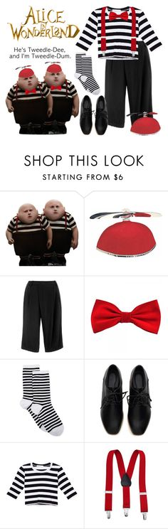"""""""Tweedle Dee/Dum costume"""" by smylin ❤ liked on Polyvore featuring Thakoon and HOT SOX"""