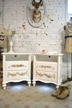 Painted Cottage Shabby Chic Romantic Night Table