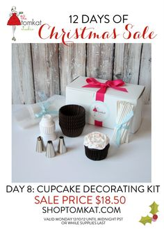 Day 8 :: The 12 Days of Christmas Sale! TomKat Cupcake Decorating Kit $18.50 shoptomkat.com