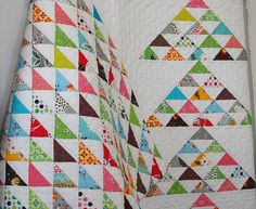Red Pepper Quilts: DS Sample Sale 2012.  Love the colors, love the white, love the triangles.  I guess I just love it.
