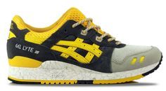 """Detroit City Skateboards - Asics Gel-Lyte III Shoes - Grey/Gold Fusion """"High Voltage"""", $99.99 (http://www.detroitcityskateboards.com/asics-gel-lyte-iii-shoes-grey-gold-fusion-high-voltage/)"""