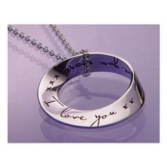 For Her ~ I Love You More Necklace  #valentine #vday #SkyMall