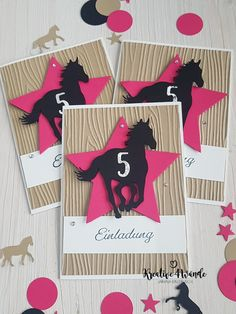 Horse Theme Birthday Party, Horse Party, Birthday Cards, Happy Birthday, Birthday Parties, Army Party, Stampin Up, Diy And Crafts, Pony