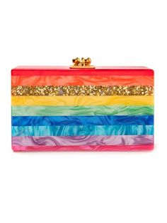 Shop now: Edie Parker Jean Rainbow Clutch a little girls dream