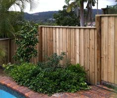 Paling Timber Fences.. Double lapped and capped, Plain-Open Style  Stockade Fencing