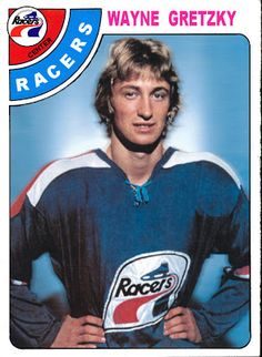 WHA Indy Racers Wayne Gretzky's pro team, before he was traded to Edmonton Oilers. O Pee Chee Wayne Gretzky, Indianapolis Racers, Hockey Cards That Never Were Rink Hockey, Hockey Games, Hockey Mom, Stars Hockey, Hockey Logos, Hockey Quotes, Nhl Highlights, Blackhawks Hockey, Chicago Blackhawks