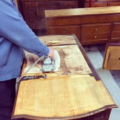 Remove veneer from furniture desk or dresser  SIMPLE REDESIGN - CUSTOM FURNITURE PAINTING - GRAND RAPIDS, MI: REMOVING OLD LEATHER FROM ANTIQUE DESK