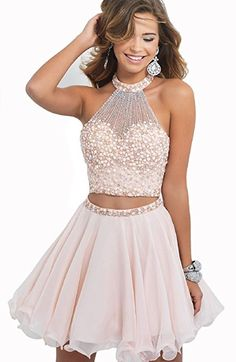 Mini Halter halter chiffon skirt party dress party dress Special Occasion Dresses (US16, picture)