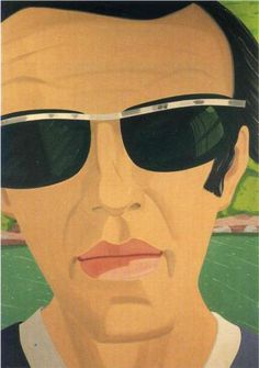 Alex Katz. Self-Portrait with Sunglasses - Alex Katz