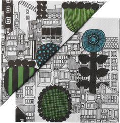 "Set of 20 Marimekko Siirtolapuutarha Paper 6.5"" Napkins in Kitchen and Table | Crate and Barrel"