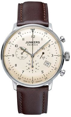 Junkers Bauhaus Quartz Gent's Chronograph With Date And Brown Leather Strap €279