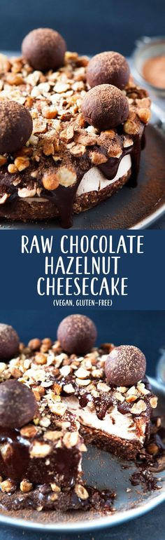 Raw #Chocolate #Hazelnut Tart / #Vegan, #GlutenFree / Goodness is Gorgeous