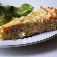 Chicken-Almond Quiche