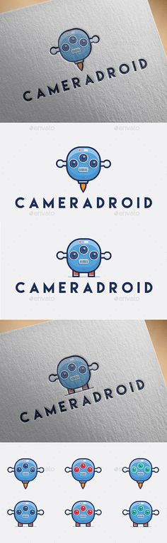 Cameradroid — Vector EPS #tech #studio • Available here → https://graphicriver.net/item/cameradroid/9653138?ref=pxcr