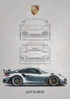 Image of Porsche 911 RS Poster Print Image of Porsche 911 RS Poster Print Cars Porche 911, Porsche 911 Gt2 Rs, Porsche Cars, Porsche 2017, Porsche Carrera, Carros Porsche, Honda, Bmw Autos, 911 Turbo S