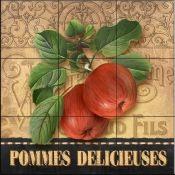 Art Print: Delicious Apples by Abby White : Decorative Tile Backsplash, Kitchen Backsplash, Posters Vintage, Fruit Picture, Fruits Images, Apple Art, Tile Projects, Tile Murals, Paper Background