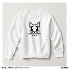 Funny Cat Face Baby Sweatshirt Available on many products! Hit the 'available on' tab near the product description to see them all! Thanks for looking!  @zazzle #art #cute #cartoon #funny #cat #humor #fun #drawing #digital #black #sweet #nice #friend #baby #toddler #boy #girl #mom #expecting #shower #clothes #fashion #style #apparel #tee #tshirt #hoody #sweatshirt #shop #gift #idea #shopping #buy #sale