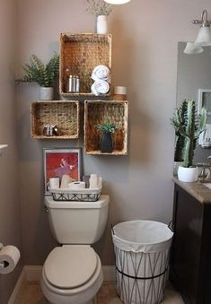51 Simple But Modern Bathroom Storage Design Ideas Bathroom Wall Shelves, Small Bathroom Organization, Bathroom Ideas, Bathroom Remodeling, Organized Bathroom, Bathroom Rack, Restroom Ideas, Ikea Bathroom, Bathroom Plants