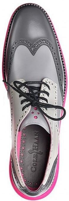 Cole Haan Wing-Tip in candy pastels of grey an pink
