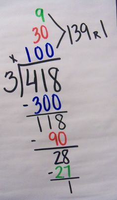 Today we began division. I always suck my kids in by telling them I'm going to teach them how to divide without division. They never ...