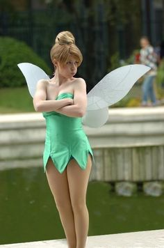 Tinkerbell cosplay hahaha love the face