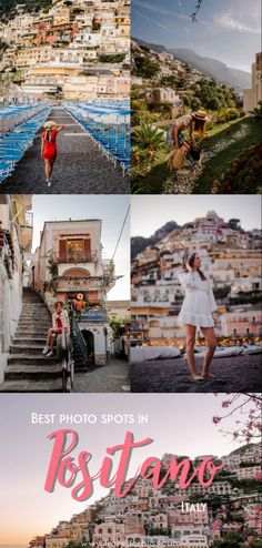Travel guide for the best photo spots in Positano. Capture amazing memories and visit some of the most instagrammable spots in positano. Italy Travel Tips, Europe Travel Guide, Travel Guides, Road Trip Europe, Backpacking Europe, Travel Hacks, Travel Advice, Europe Travel Outfits, Italy Destinations
